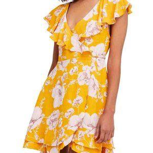 free people french quarter floral mini wrap dress